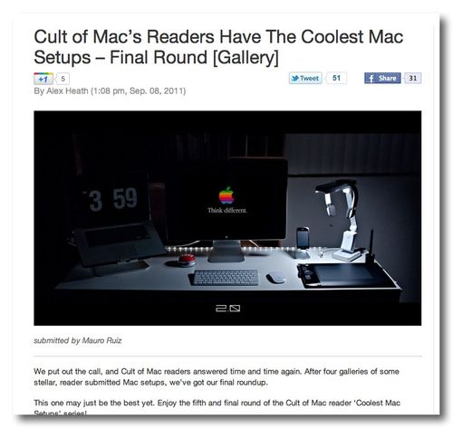 ~ Cult of Mac's Readers Have The Coolest Mac Setups – Final Round [Gallery] | Cult of Mac