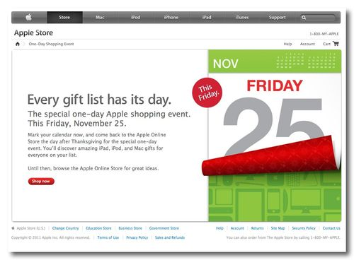 ~ One-Day Apple Shopping Event 2011 - Apple Store (U.S.)