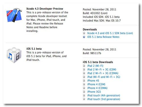 ~ iOS 5.1Dev Center - Apple Developer 2