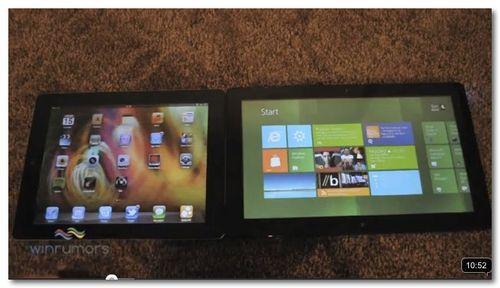 ~ iPad iOS 5 vs Windows 8 Slate - YouTube