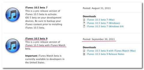 ~ Apple Developer-itunes beta9