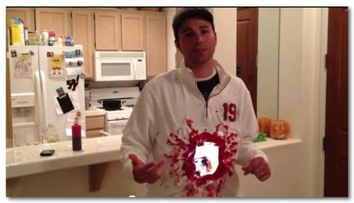 ~ iPad2 Halloween Costume- Gaping hole in torso - YouTube