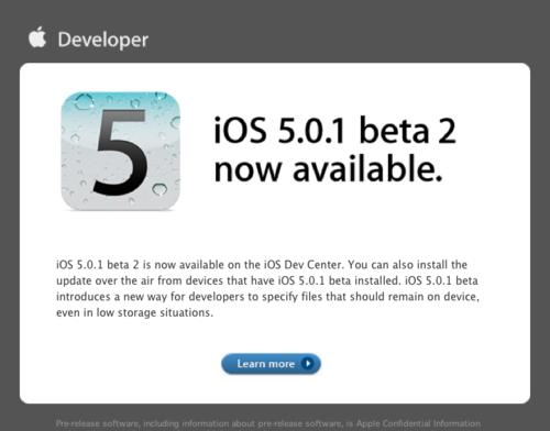Gmail - iOS 5.0.1 beta 2 now available. - nondualone@gmail.com