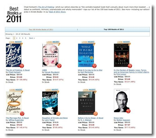 ~ Amazon.com_ Best Books of 2011--The Top 100