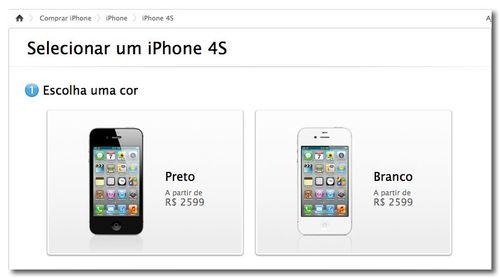 ~ iPhone 4S - Compre o novo iPhone 4S desbloqueado nas cores preta ou branca. - Apple Store (Brasil)