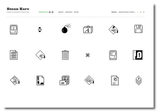 ~ Susan Kare - User Interface Graphics - Apple Mac Icons