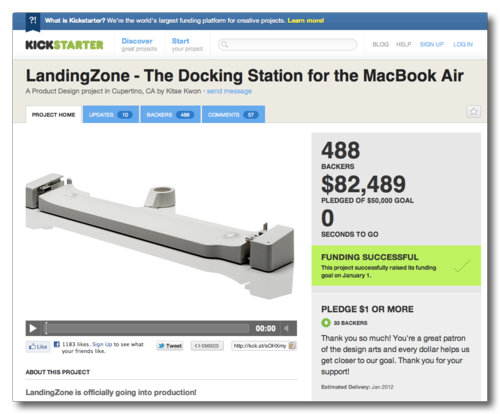 ~ LandingZone - The Docking Station for the MacBook Air by Kitae Kwon — Kickstarter
