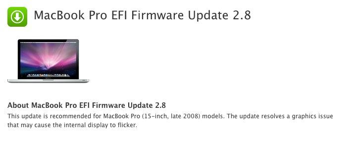 MacBook Pro EFI Firmware Update 2.8