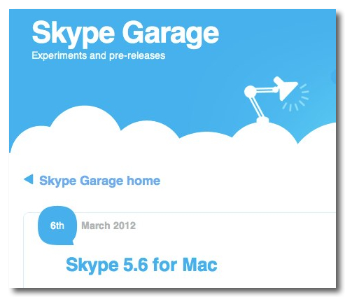 Skype - Skype Garage blog - Skype 5.6 for Mac