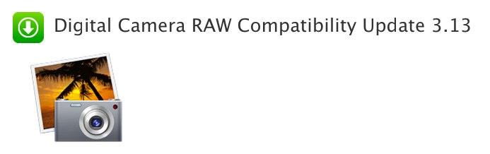 Digital Camera RAW Compatibility Update 3.13