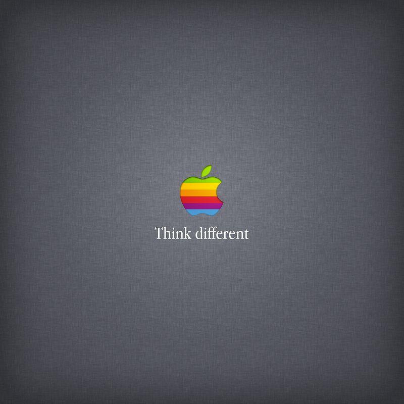 ★ Retro Apple on Linen by @RetinaiPadWalls on twitter