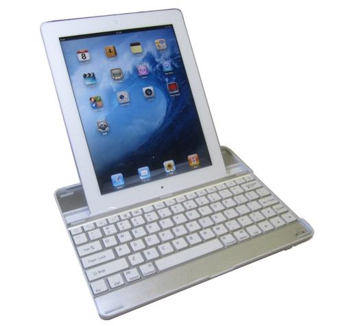 Amazon.co.jp: 【HAIKAU】 iPad2 bluetoothキーボード内蔵アルミケース 【USキーボード】 ホワイト 日本語操作説明書付き_ 家電・カメラ-2