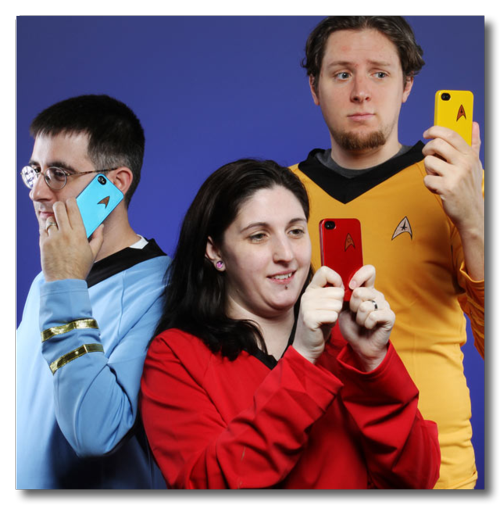 ~ ThinkGeek __ Star Trek Starfleet iPhone 4 Cases