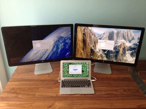 Macbook air 2012 dual thunderbolt displays
