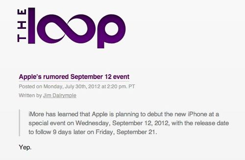 Apple's rumored September 12 event