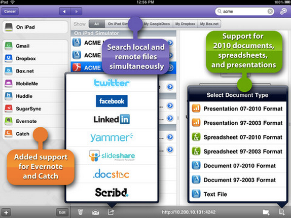 ITunes App Store で見つかる iPad 対応 Quickoffice Pro HD – edit office documents & view PDF files