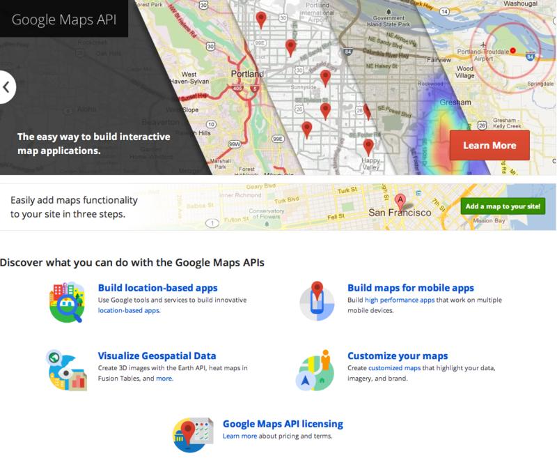 Google Maps API — Google Developers