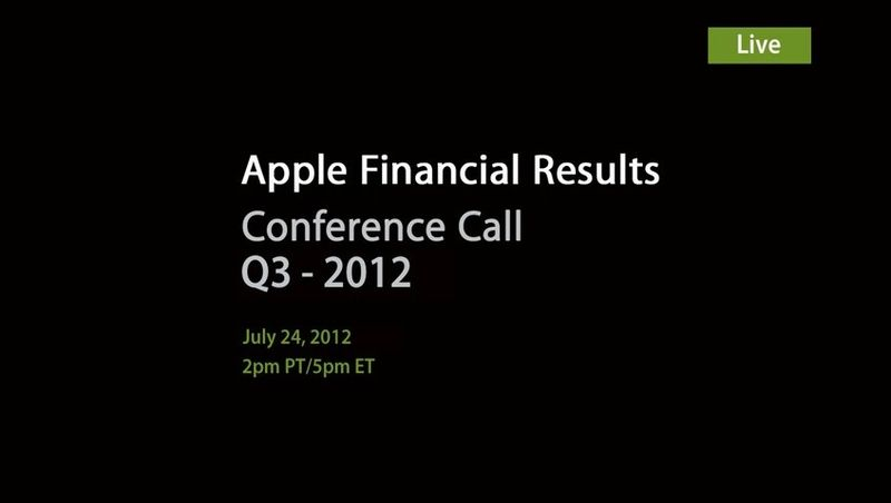 Apple - Apple Financial Results - Q3 2013